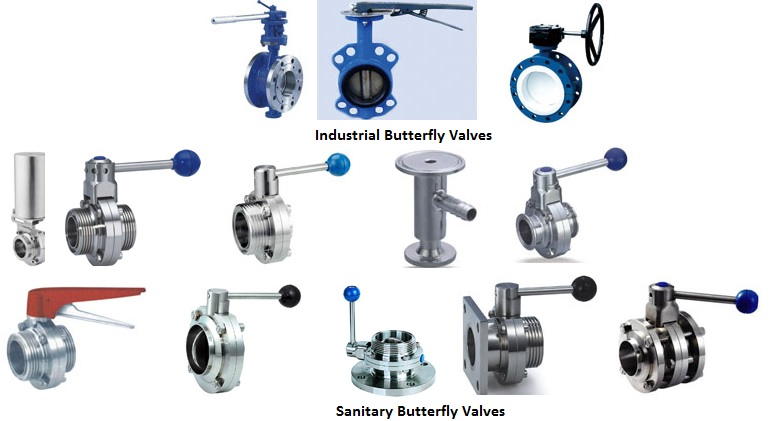 Steel & Stainless Steel industrial and sanitary butterfly valves