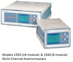 Models 1550 (16 module( & 1560 Multi-Channel Anemomasters