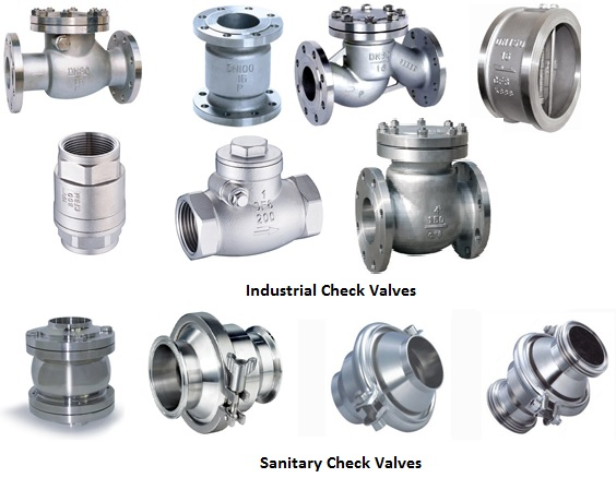 Steel & Stainless Steel Industrial and Sanitary Check Valves