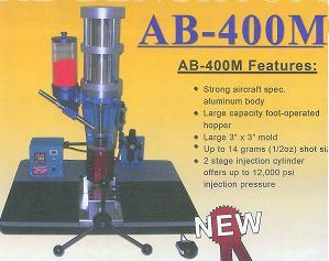 AB-400M MANUAL BENCH TO PLASTIC INJECTOR UP TO 14 GRAM (½ oz) SHOT CAPACITY