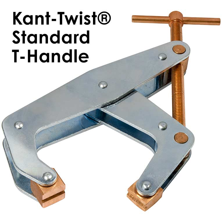 """Kant-Twist T-Handle  303 Stainless Steel Construction Jaw 4-1/2""""  Cantilever Clamp 1-1/8"""" Thk Part No. K045TSD"""