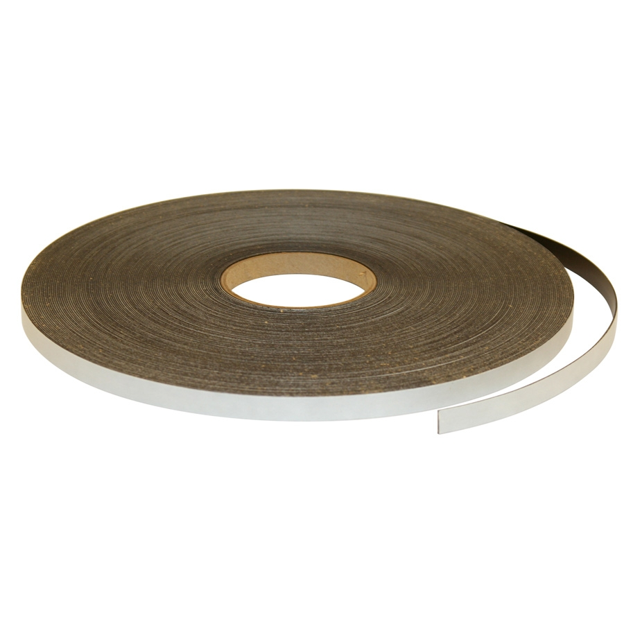Flexible Magnetic Strip, 18 lbs/in. ft. Force, 100 ft., 1/16