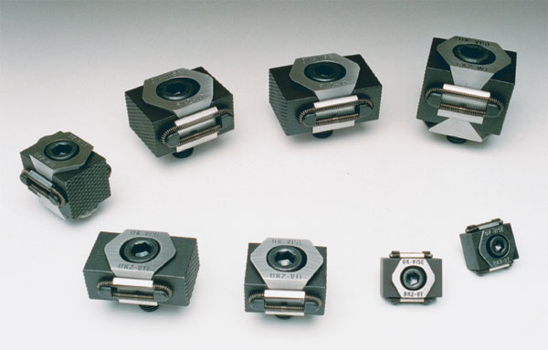 OK-Vise Clamp FK2-VT+5.  Additional material is added to these machinable jaws.