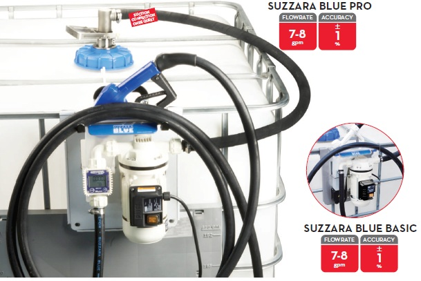 SUZZARA BLUE 120V PRO Tote Dispensing System