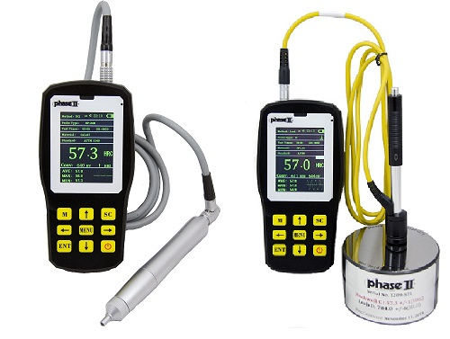 PHT-6080  Ultrasonic  Portable  Hardness Tester w/ .80kg Probe(motorized)  Best for smooth bearing type surfaces.