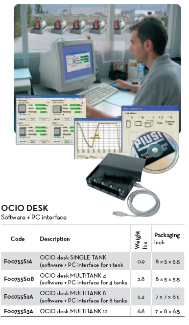 OCIO DESK MULTITANK 8  c/w software & PC interface