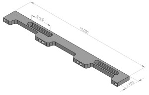 LNL-DOCK-18 -2x18''  Docking Rail