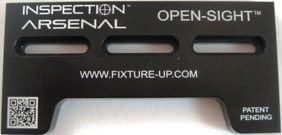 "OPEN-SIGHT Vision Fixture Plate   Docking Rail 6""x3"""