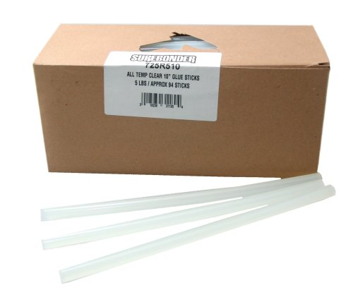 "Regular Clear General Purpose 7/16"" Dia. X 10"" Glue Sticks (450 pieces)"