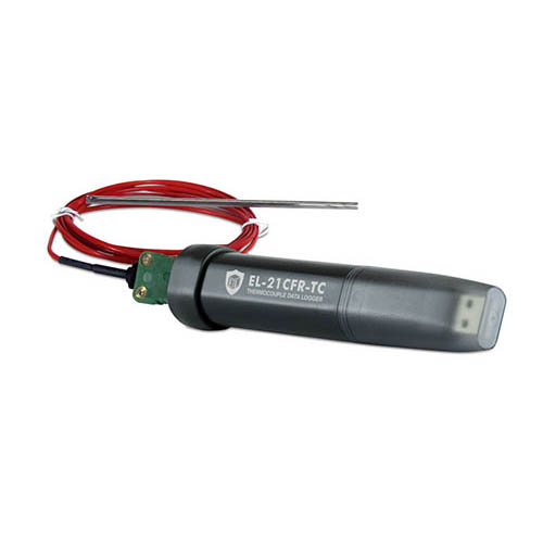 Lascar Electronics EasyLog 21CFR-compliant Thermocouple Temperature Data Logger with USB, Temperature Monitoring