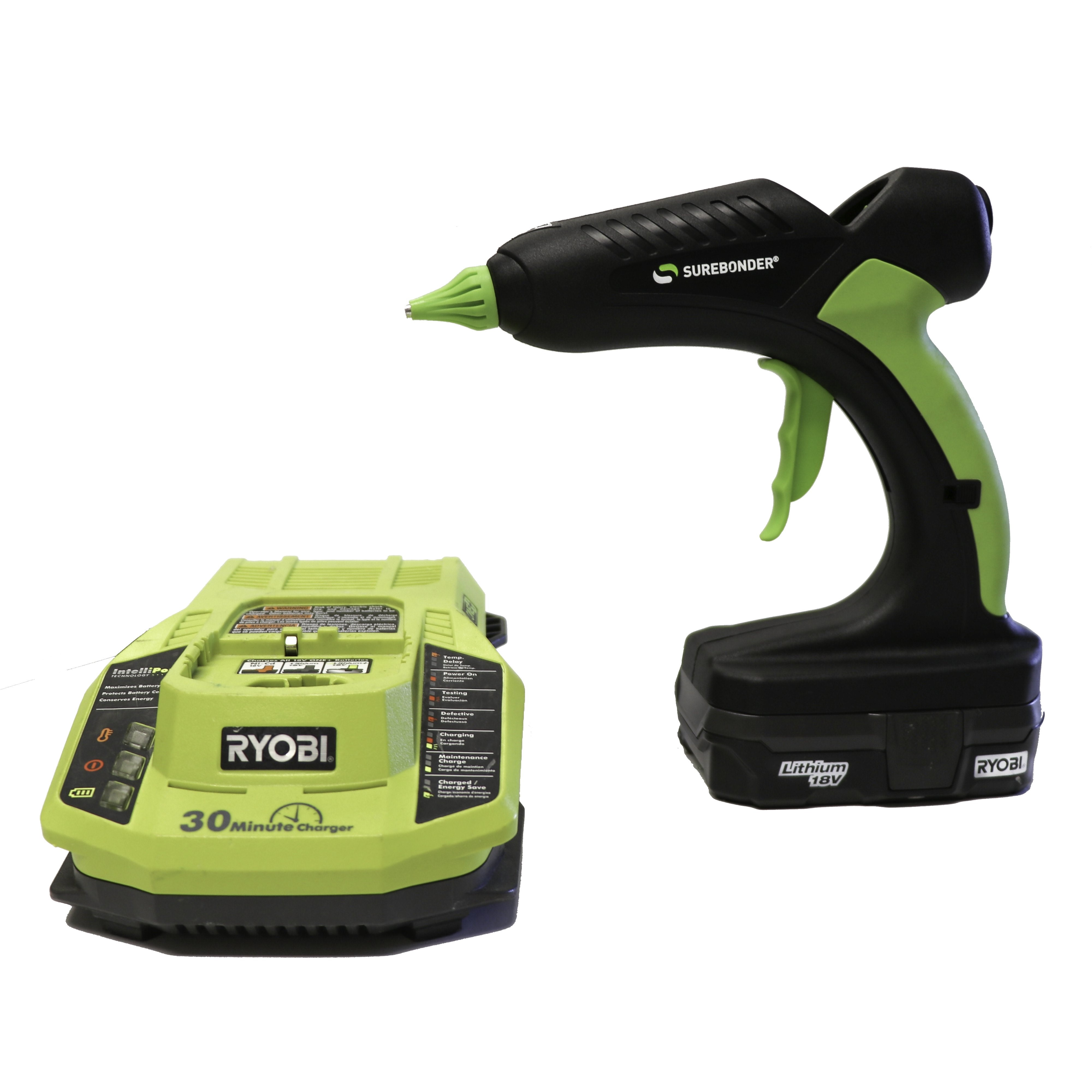 PRO2-60KIT Surebonder Industrial Heavy Duty  High Temperature Battery Glue Gun Kit- 18 Volts 60 Watts  includes battery & charger.