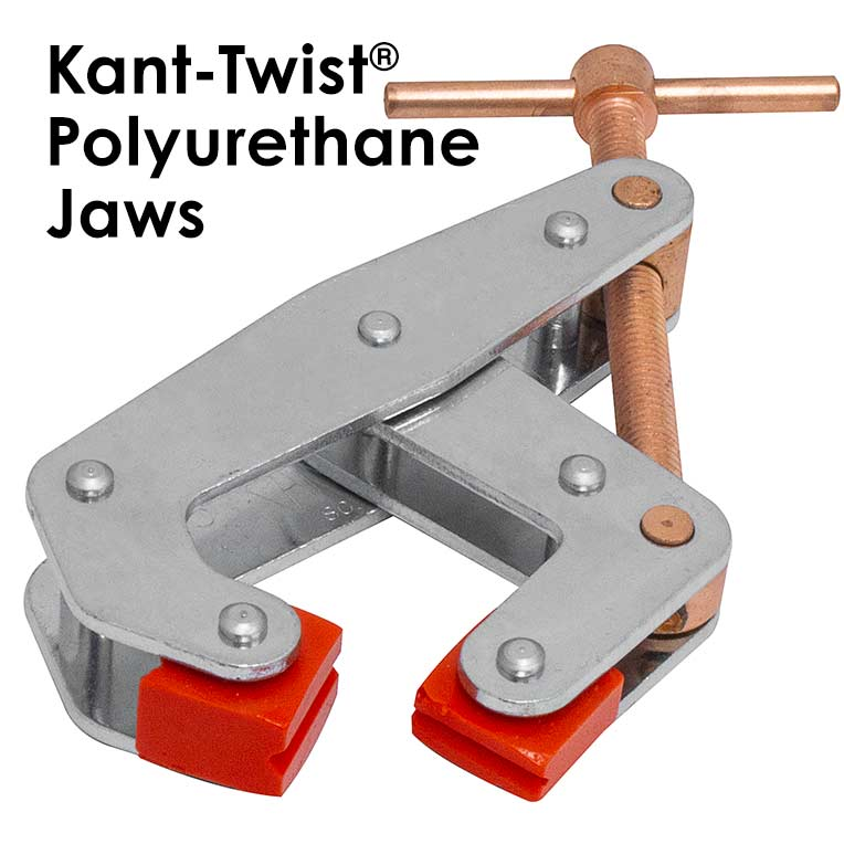 "Kant-Twist Polyurethane 6""Jaw, T-Handle Cantilever Clamp 1-3/8"" Thk Part No. K060TUD"