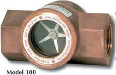 Sight Flow Indicator, single window, bronze body