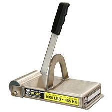 Basic Lift Magnet™ 1000 lb Capacity BasicLift™ - Permanent Ceramic Lift Magnet 1000 lb Capacity for Flat Steel Applications. Featuring a lightweight and durable Stainless Steel design, the BasicLift has a full width cam to release the magnet from the stee