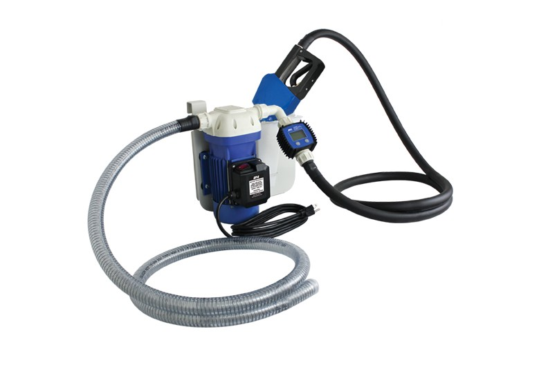 AC DEF KIT w/ 20 ft  output hose, meter, auto shut-off nozzle, pump, hang bracket