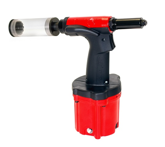 """Air Hydraulic Riveter - Clamshell with 1/4"""" nose piece"""
