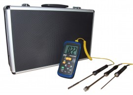 Reed R2400-KIT THERMOMETER, THERMOCOUPLE WITH 3 PROBES AND CASE, KIT