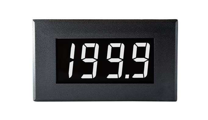 Lascar Electronics Large 200mV Single-rail Voltmeter with White Digits, LCD Display