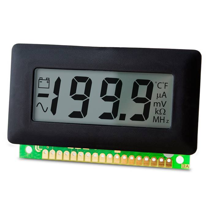 Lascar Electronics 200mV LCD Voltmeter with Annunciators, LCD Display