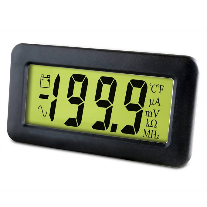Lascar Electronics 200mV LCD Voltmeter with Backlighting, LCD Display