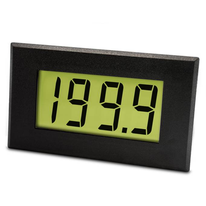 Lascar Electronics Large 200mV LCD Single Rail Voltmeter with LED Backlighting, LCD Display