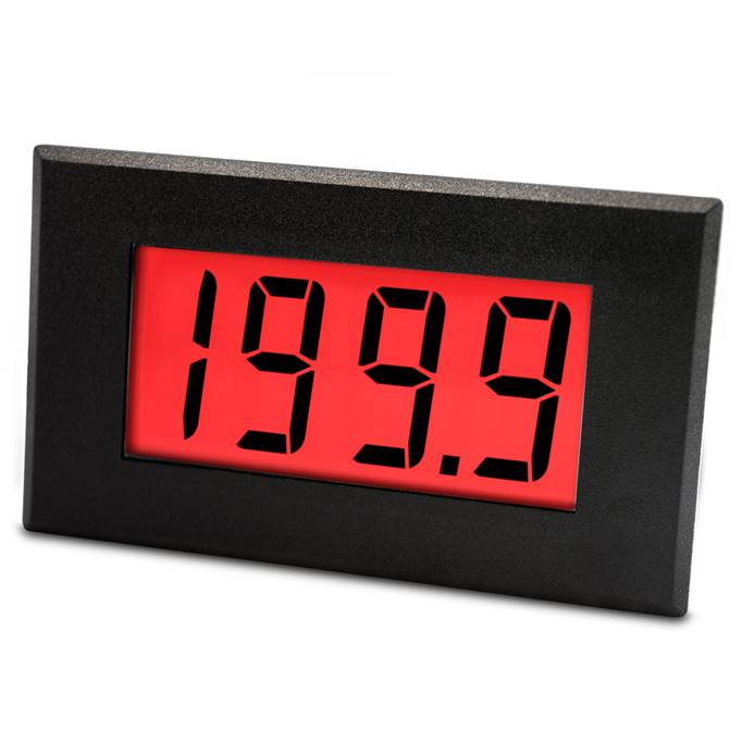 Lascar Electronics Large 200mV LCD Voltmeter with Red/Green Programmable Backlighting, LCD Display