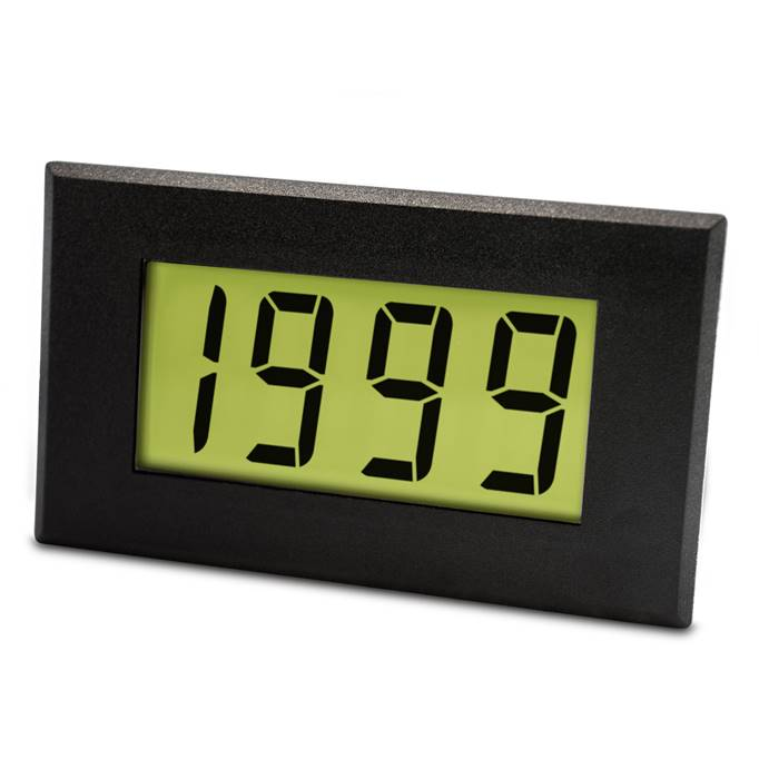 Lascar Electronics Large AC LCD Voltmeter with LED Backlighting, LCD Display