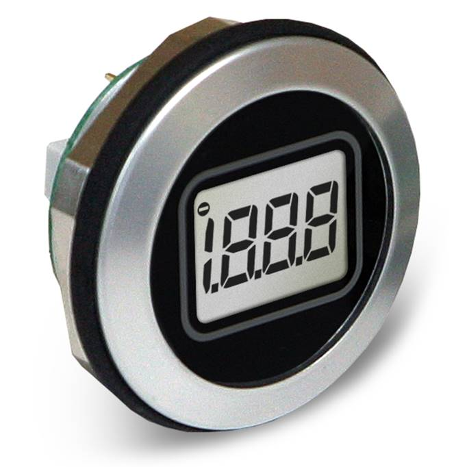 Lascar Electronics Round Hole Fitting LCD Voltmeter, LCD Display