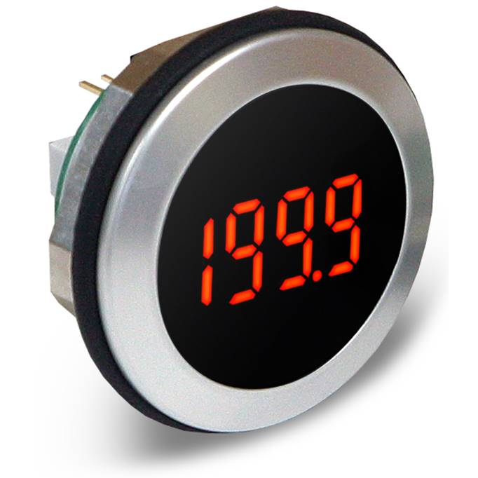 Lascar Electronics Round Hole Fitting LED Voltmeter, LED Display