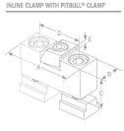 Modular In-Line Clamping System Inline Stop with Pitbull