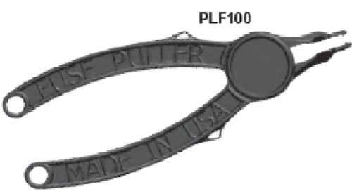 Flat Blade Fuse Puller/Installer- 5 Tool Pack. Part No. PLF100-5
