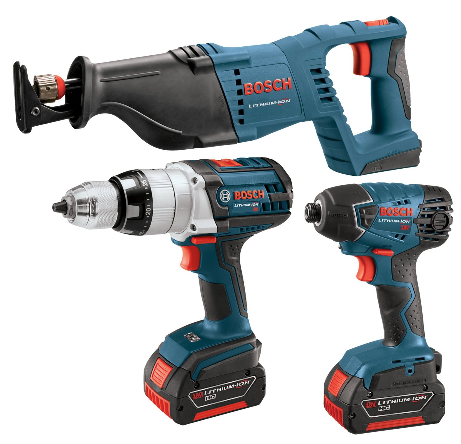 Bosch 18V 4 Piece Litheon Combo Kit