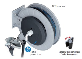 "Hose reel c/w DEF 26 ft EPDM 3/4"" hose. Part No. F00750070."