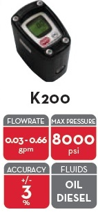 "IN LINE K200 GREASE METER GR/KG1/8""BSP"