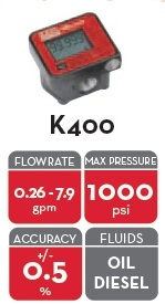 K400 PULSER/SINGLE CHANNEL NPTF