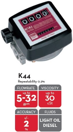 K44 METER GALLONS/NPT LIGHT OIL & DIESEL