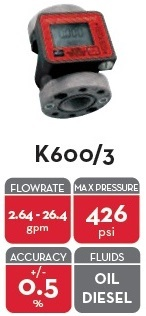 K600/2-3 PULSER 3/4in NPTF OIL Version