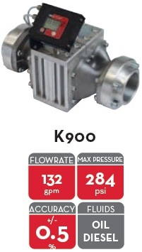 K900 METER 3in  NPT GAL. OIL & DIESEL