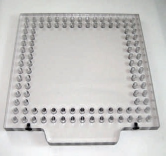 "OPEN-SIGHT Vision FIXTURE PLATE-.5 Polycarbonate 8""x8"""