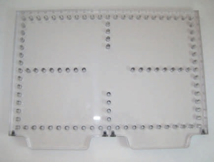 "OPEN-SIGHT Vision BLANK FIXTURE PLATE-.5 Polycarbonate 12""x8"""