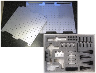 LASER ARSENAL™ SYS-40-DK18LA01 Laser Work-Holding Kit including LA-KIT-01 plus docking rail and Loc-N-Load Plates.