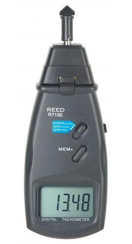 REED R7100-NIST TACHOMETER, PHOTO/CONTACT, 99,999RPM/19,999 RPM with NIST certification