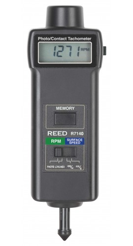 Reed R7140-NIST TACHOMETER, PHOTO/CONTACT, 99,999 RPM/19,999 RPM with NIST certification