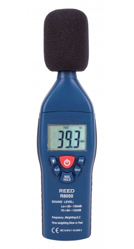 REED R8050-NIST Sound Level Meter, Datalogger with Bargraph, 30 to 130 dB