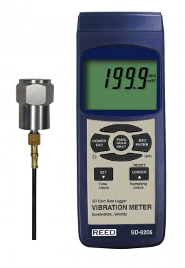 Reed R-8505-NIST VIBRATION METER, DATA LOGGER W/NIST CERT