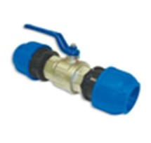 Straight connect. with ball valve D. 63x2 1/2'' 3 Piece Pack