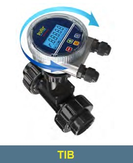 "6"" to 24"" Pipe TIB PVC Battery Powered Flow Rate - Flow Total LCD Display Insertion Paddle Wheel Flow Meter"
