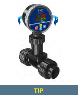 """6"""" to 24"""" Pipe TIP PP  Flow Rate - Flow Total Pulse   RS485 (Opt) Insertion Paddle Wheel Flow Meter"""