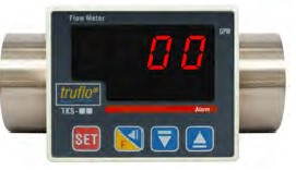 """3/8"""" TK3S Flow Rate Pulse+Relay Output Paddle Wheel 316SS Body  Meter"""