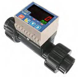 """1 1/2"""" TKM Paddle Wheel PVC Flow Meter with Transmitter 4-20mA + Flow Rate Pulse + Totalizer Totalizer Pulse"""